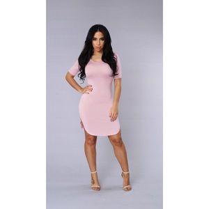 Cory Tunic Dress. Mauve /Pink T-Shirt Dress Size M